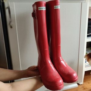Hunter original rain boots red
